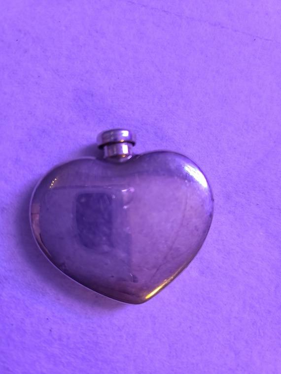 Vintage T & Co Puffed Heart Perfume Flask Bottle