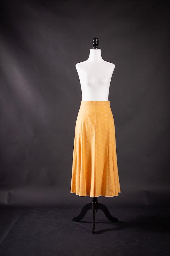 Mustard Yellow Vintage Skirt