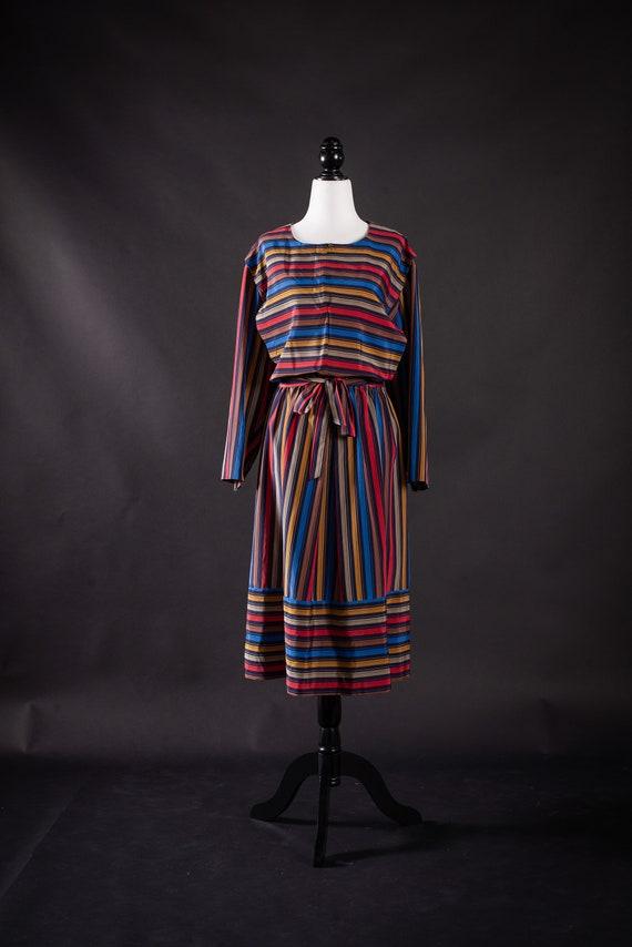 Vintage Rainbow Dress Designer Liz Moody