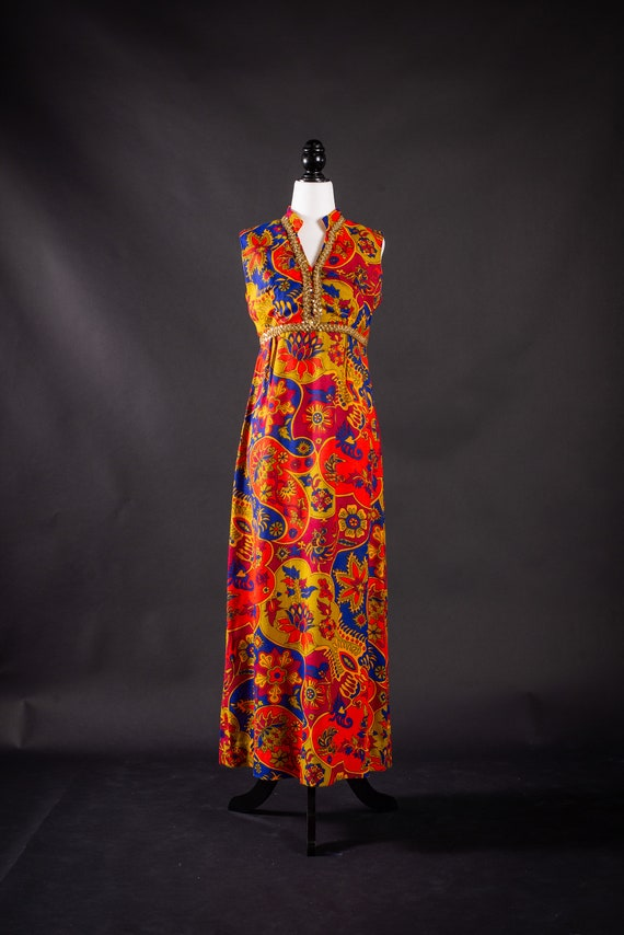 Vintage 1960s Psychedelic Dress
