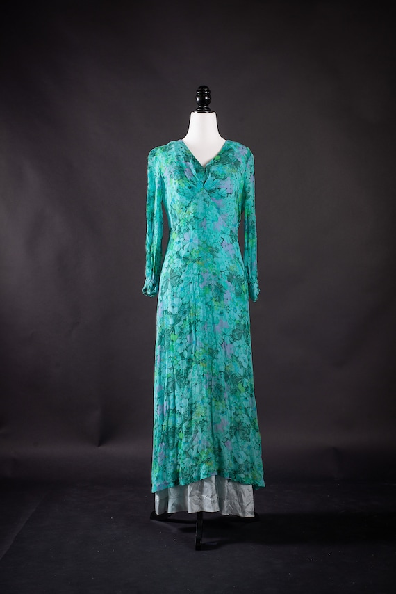 Union Made 1960's Vintage Floral Dress