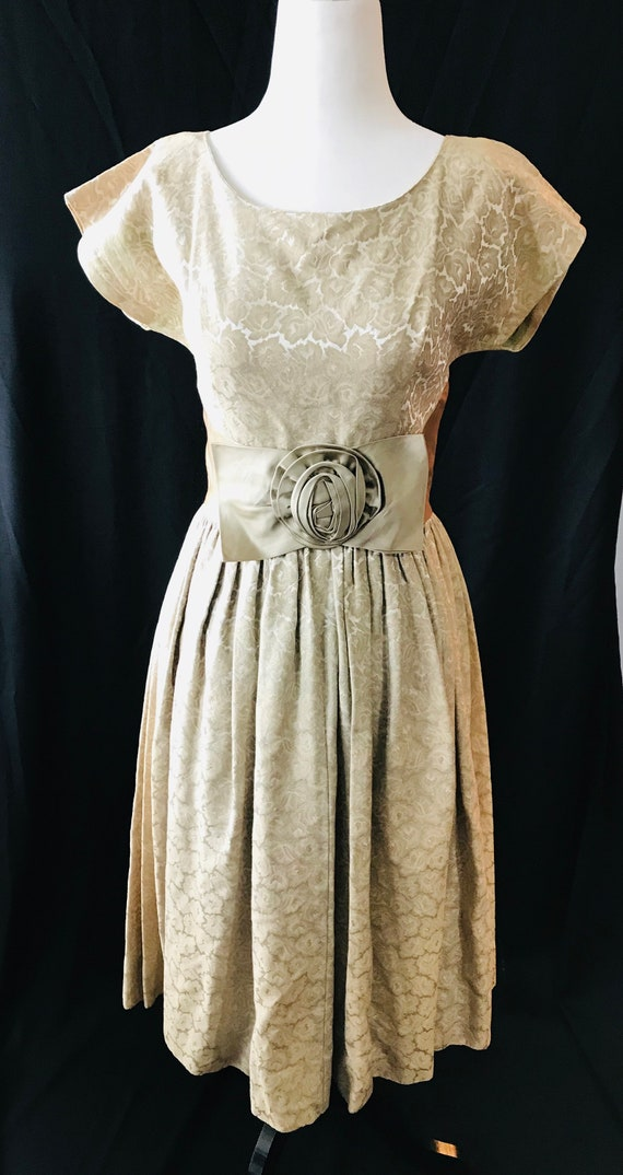 Golden Vintage Party Dress 1950s