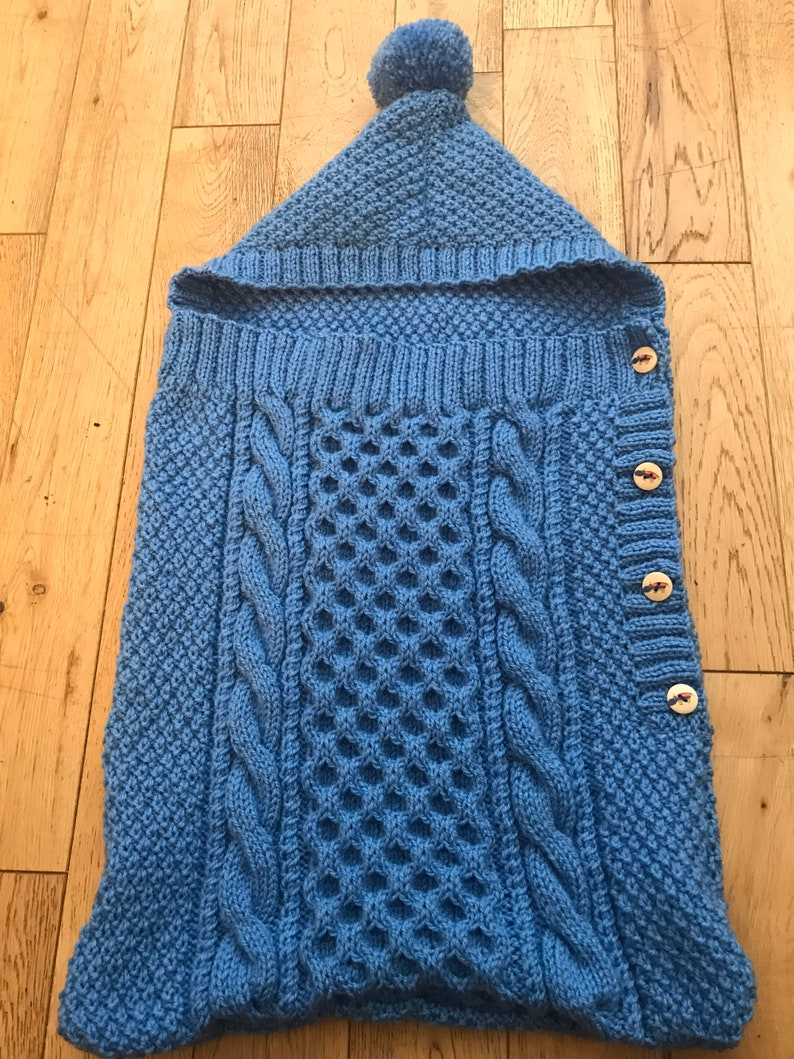Hand knitted baby bags
