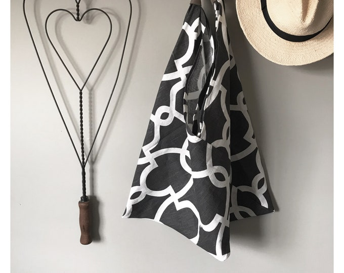 Featured listing image: Linen Tote Bag | Tote Bag | Black Bag | Grocery Bag  | Market Bag | Beach Bag | Computer Bag | Handmade Bag | Handmade Gift | Unique Gift