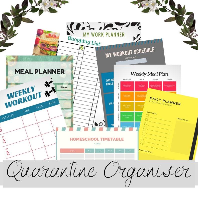 PDF WEEKLY PLANNER Printable Homeschool Planner for Kids image 0