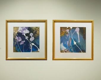 Decorative murals | Live Lines | Frank Xavier Original | 30 by 30 cm | Framed
