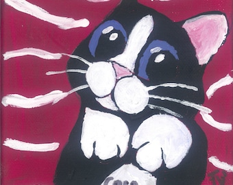 Cat pictures (Series Caro Cats) on deformable magnetic material | as a magnet or on magnetic panels | Frank Xavier Original