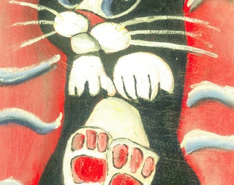 2 times Caro Cats | Franz Xavier 2020 | Oil on Canvas / Cardboard | different sizes