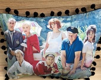 Gilligan's Island Pillow, Handmade Classic TV Art Pillow (with Fluffy Stuffing)