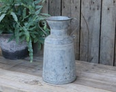 enchanting French zinc jug for dried flowers, utensils or decoration