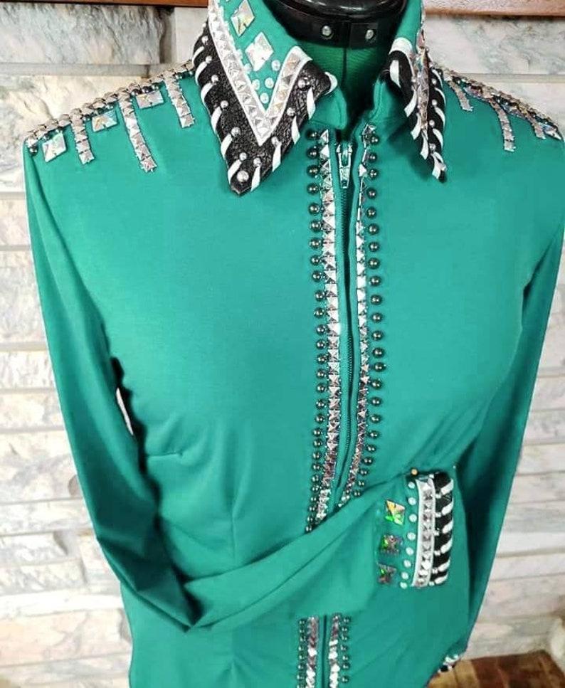 Western Rodeo Queen Showmanship Horsemanship Women Pleasure Rail Show Shirt