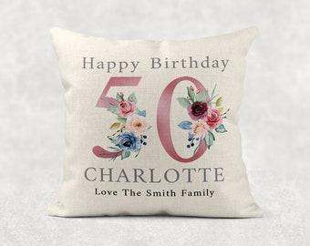 Free Shipping. Buy 50th Birthday Pillow