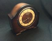 Original Vintage Perivale Chiming Mantel Clock Chimes Floating Balance - Good working order