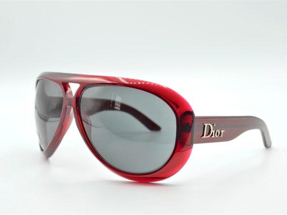 DIOR Aviadior 1 aviator 2000s sunglasses red/blac… - image 4