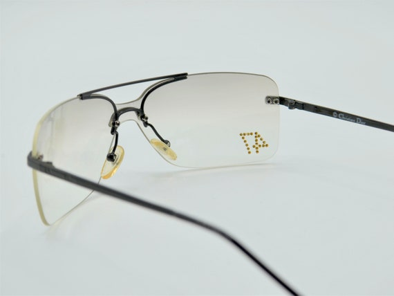 Dior squared 2000s sunglasses rimless metal with … - image 6