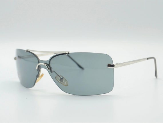 Dior squared 2000s sunglasses rimless metal with … - image 8