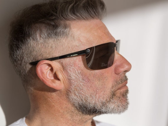 Dior men's visor sunglasses Gipsy dark grey with … - image 7
