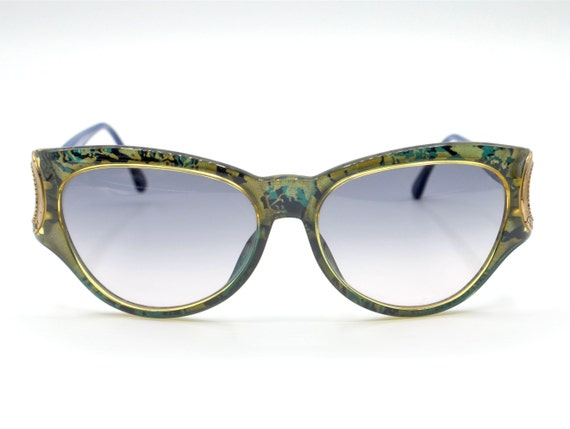 DIOR 2663 vintage colorful camouflage large cat ey