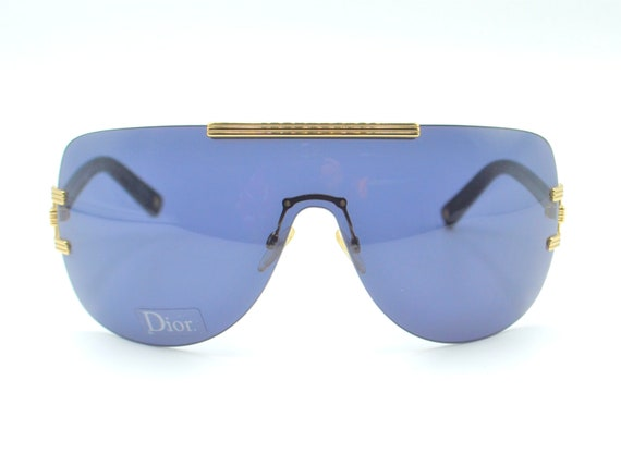 2000s Dior visor oversized sunglasses wraparound … - image 1