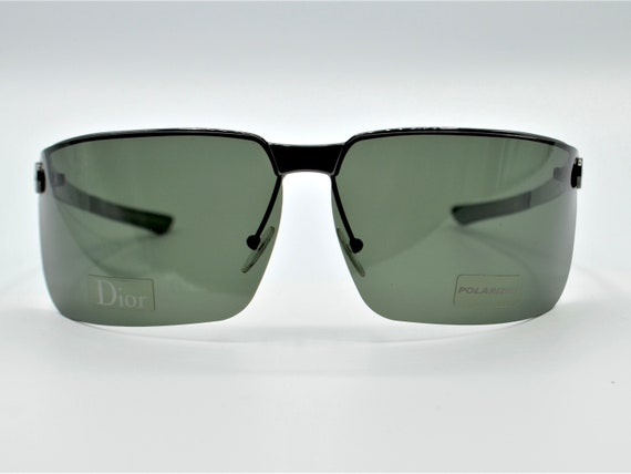 Dior men's visor sunglasses Gipsy dark grey with … - image 2