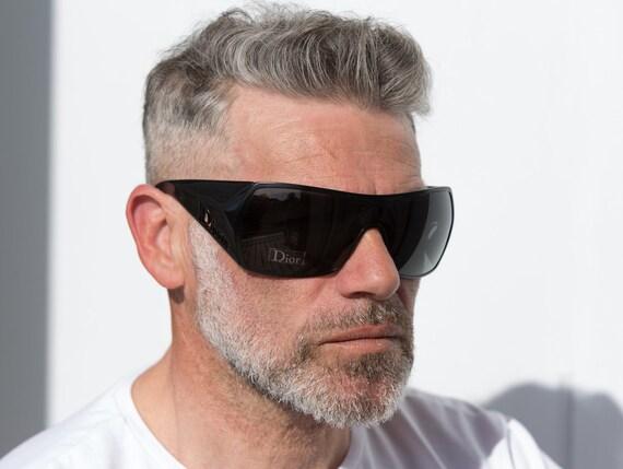 Dior visor sunglasses squared 2000s Gaucho wrapar… - image 1