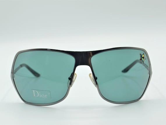 Dior squared sunglasses 2000s vintage smoke dark … - image 1