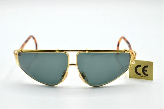 Versace S35 vintage wide aviator sunglasses 1980s