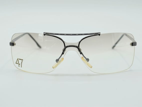 Dior squared 2000s sunglasses rimless metal with … - image 2