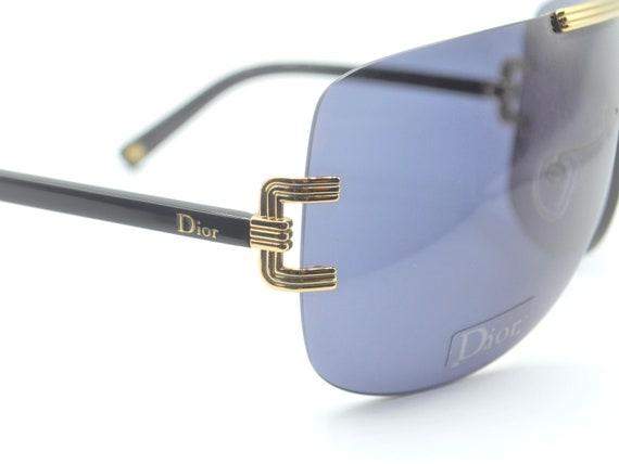 2000s Dior visor oversized sunglasses wraparound … - image 5