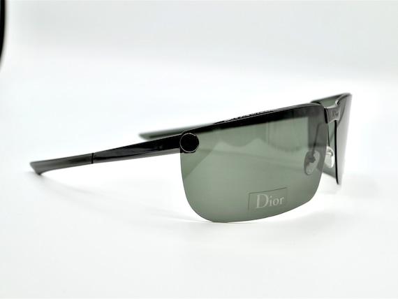 Dior men's visor sunglasses Gipsy dark grey with … - image 6