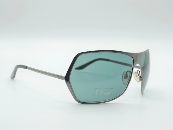 Dior squared sunglasses 2000s vintage smoke dark … - image 3
