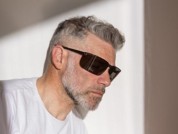 Dior men's visor sunglasses Gipsy dark grey with … - image 5