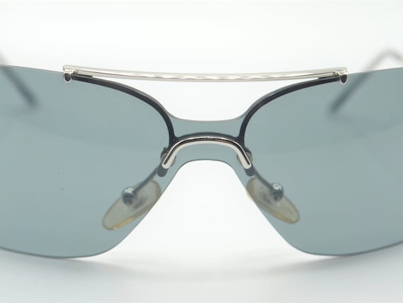 Dior squared 2000s sunglasses rimless metal with … - image 10
