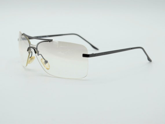 Dior squared 2000s sunglasses rimless metal with … - image 4