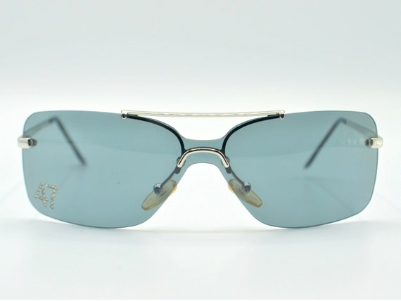 Dior squared 2000s sunglasses rimless metal with … - image 7
