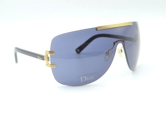 2000s Dior visor oversized sunglasses wraparound … - image 6