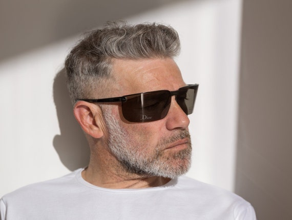 Dior men's visor sunglasses Gipsy dark grey with … - image 1