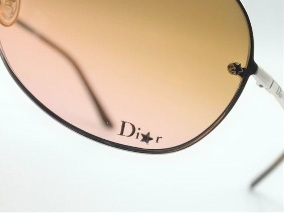 Dior aviator 2000s sunglasses wraparound silver m… - image 3