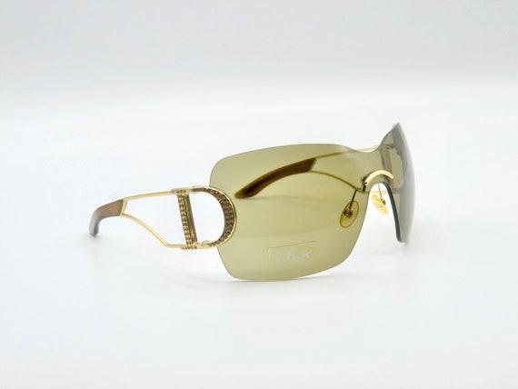DIOR 2000s visor sunglasses rimless oversized squ… - image 2