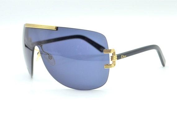 2000s Dior visor oversized sunglasses wraparound … - image 7
