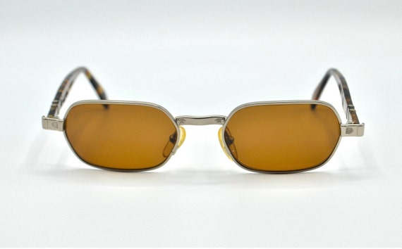 PERSOL SCOOP oval metal frame tortoise 1990s authe