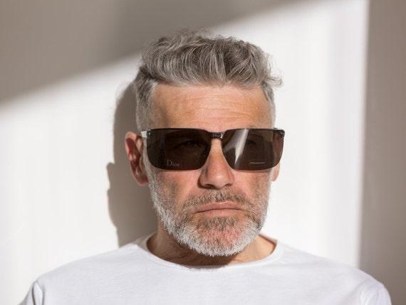 Dior men's visor sunglasses Gipsy dark grey with … - image 3