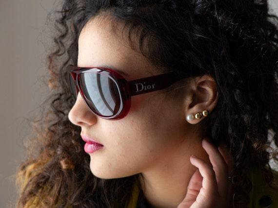 DIOR Aviadior 1 aviator 2000s sunglasses red/blac… - image 6