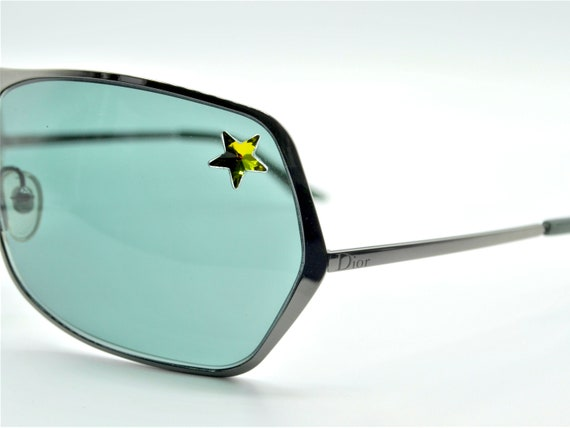 Dior squared sunglasses 2000s vintage smoke dark … - image 4