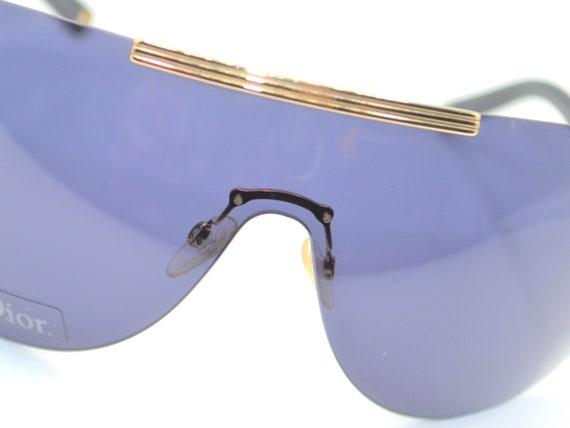 2000s Dior visor oversized sunglasses wraparound … - image 2
