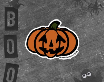 Jack-O-Lantern Bubble-free stickers