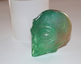 ALIEN SOAP SILICONE MOULD RESIN PLASTER CLAY WAX MOLD  SPACE UFO X FILES ET