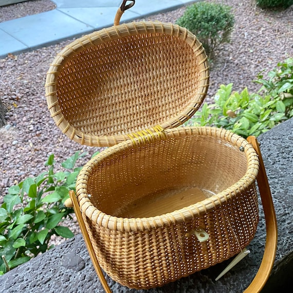 Vintage Wicker Basket Purse - image 3