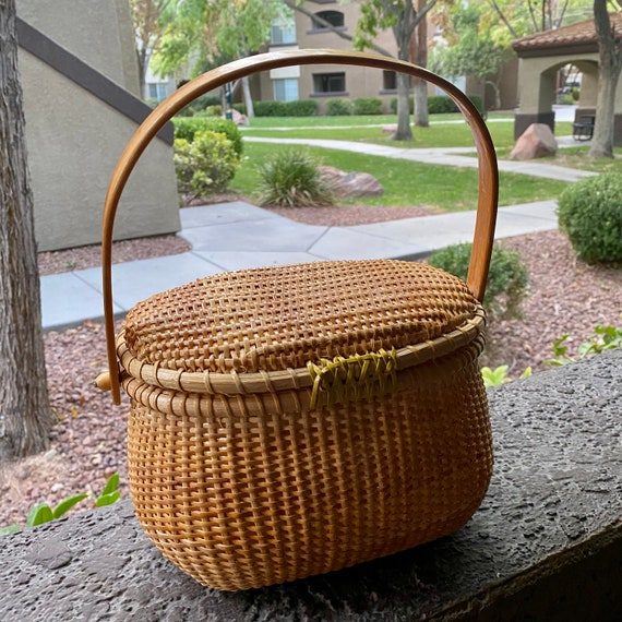 Vintage Wicker Basket Purse - image 2