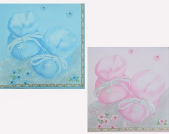 4 Single Lunch Paper Napkins for Decoupage Craft Napkin Little Mouse and School
